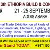 13th ETHIOPIA BUILD & CONST EXPO  21 - 25  SEPTEMBER 2016