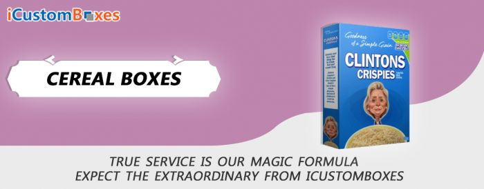 We Order Specially Custom Printed Blank Cereal Boxes
