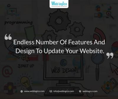 How often do you change your website design and functionality?  #WebsiteDesign and #WebsiteFeatures are the keys to retain customers for over and over visit your website. Depending on the #customers and their #purchasebehaviour, you can identify your #website #functionality and #userfriendliness.  Mostly #entrepreneurs are busy with their own schedule and cannot focus on their #designchange. Those entrepreneurs should have to focus on all these change requirements. #Weblogico on behalf of you guys will focus on all website #features, #functionality, #userfriendliness, #customersatisfaction and all the aspect of design and features of your website.  Ask our #businessexpert, #expertdesigner and #expertdevelopers to find the easy #solution to update #website. We would love to help you with finding the best set of updates your website need. #weblogico