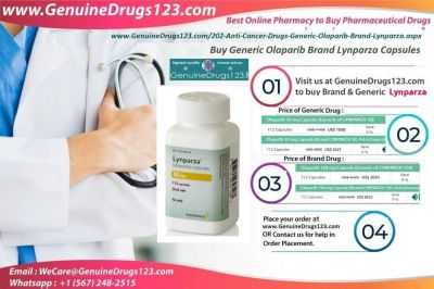 GenuineDrugs123.com offers Generic Olaparib Brand Lynparza Capsules at an lowest Price online. Anyone can buy this medication from this website. If you have any query please write us at WeCare@GenuineDrugs123.com  Buy Now : https://bit.ly/2XCi34d