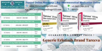 Generic #Erlotinib Brand Tarceva  Check Erlotinib/Tarceva cost @ https://bit.ly/2VcFr72  Contact Details  WeCare@GenuineDrugs123.com  #tarcevacost #tarceva150mg