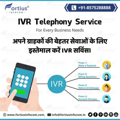 IVR is a sensitive service for business. It measures your client requirements and transfers their calls to the right department. Your valued customer can be easily satisfied by joining you through IVR. Contact us to hire our IVR services. ? http://www.fortiusinfocom.com ? info@fortiusinfocom.in ☎️+91-8575288888