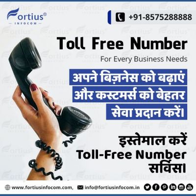 Power of a Toll-Free Number for Every Business  By using a toll-free number service by Fortius Infocom, you can easily grow your business and provide better service to the customer. It inspires your customer to connect with you in a professional way. So hire our toll-free number service via contact with us. ? http://www.fortiusinfocom.com/buy-toll-free-number ? info@fortiusinfocom.in ☎️ +91-8575288888  #TollFree #TollFreeNumber #TollFreeService #TollFreeNumberService #LowCosTollFreeNumber #LowCostTollFreeNumberServices