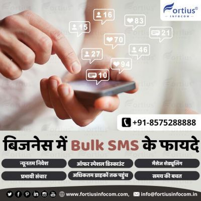 Advantages of Bulk SMS in Business  Fortius Infocom has launched Bulk SMS Services with the latest features like document, link attachment available and etc. Now you can send your business proposal in a simple SMS form with full details. For more information or to purchase our bulk SMS services, contact us. ? http://www.fortiusinfocom.com/buy-bulk-sms/ ? info@fortiusinfocom.in ☎️ +91-8575288888  #bulksms #bulksmsservice #bulksmsservices #bulksmsprovider #bulksmsserviceprovider #bulksmsservicesinlucknow