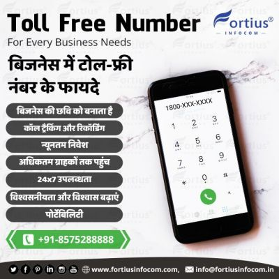 Operated Toll-Free Number Services  Get great opportunities from your customers after using toll-free number services with Fortius Infocom at a low cost. We provide the most reliable professional services. Contact us now to get your toll-free number. ? http://www.fortiusinfocom.com/buy-toll-free-number ? info@fortiusinfocom.in ☎️ +91-8575288888  #TollFree #TollFreeNumber #TollFreeService #TollFreeNumberService #LowCosTollFreeNumber #LowCostTollFreeNumberServices