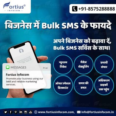 Bulk SMS Service Benefits for Small or Large Business  Bulk SMS service is a key-holder for promoting an online business. It appreciates people interested in commercial products or services. By using bulk SMS services you can increase the popularity of your business in a certain area. To buy Bulk SMS Services with new features contact us. ☎️ +91- 8575288888 ? info@fortiusinfocom.in ? http://www.fortiusinfocom.com/buy-bulk-sms  #bulksms #bulksmsservices #bulksmsservice #bulksmsprovider #bulksmsserviceprovider #bulksmsmarketing #cheapestbulksms #lowcostbulksms #bulksmspromotion #bulksmsseller