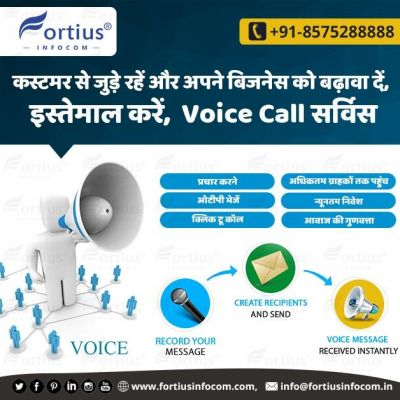 Essential Voice Call Services to Grow Your Business  The business promotion has become so easy now through voice call services. Using voice call services you can reach a thousand people in a few minutes. It helps you get responses from people first. Get more information by contacting us. ☎️ +91-8575288888 ? info@fortiusinfocom.in ? http://www.fortiusinfocom.com  #voicecall #voicecallservice #voicecallservices #voicecallfeatures #lowcostvoicecallservice